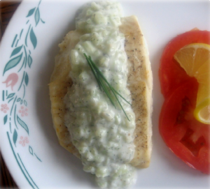 Halibut Steaks with Cucumber Sauce Hcg Recipe