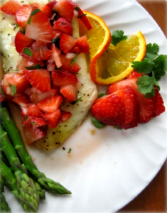 Orange Roughy with Strawberry Salsa Hcg Recipe