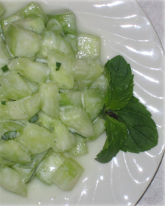 Cucumber Apple Mint Salad Hcg Recipe