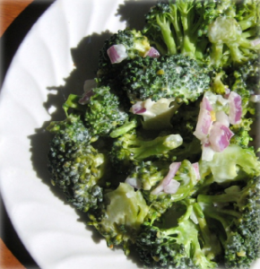 Broccoli Salad With Sweet Vinaigrette Hcg Recipe