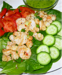 hcg-recipes-spiced-shrimp-and-spinach-salad