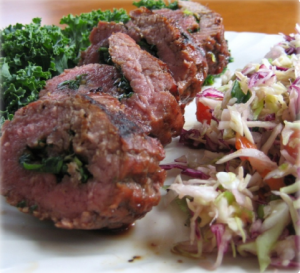 Steak and Spinach Spirals Hcg Recipe
